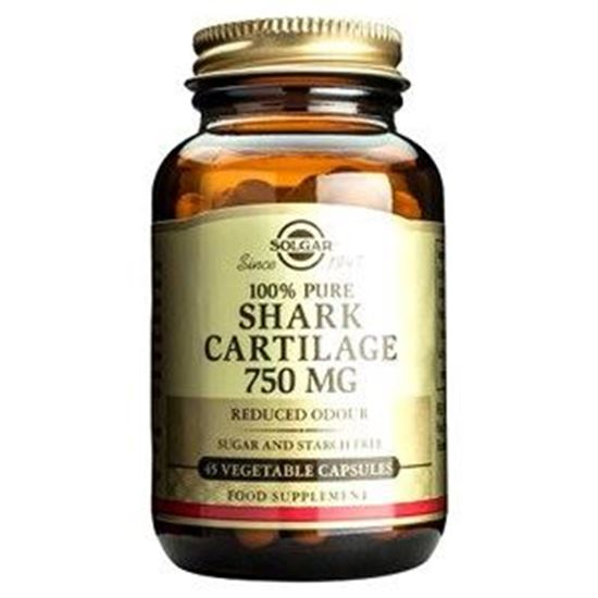 Picture of Solgar 100% Pure Australian Shark Cartilage 750 mg - 45, 90 or 180 Vegetable Capsules