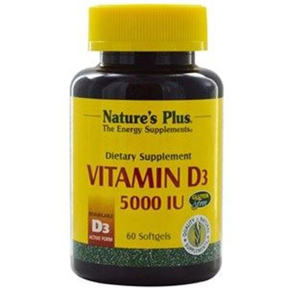 Picture of Natures Plus Vitamin D3 5000 IU Softgels