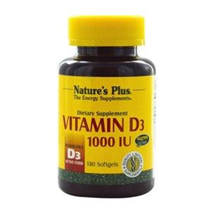 Picture of Natures Plus Vitamin D3 1000 IU Softgels