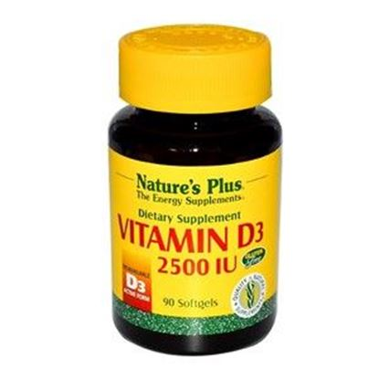 Picture of Natures Plus Vitamin D3 2500 IU Softgels