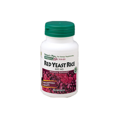 Picture of Natures Plus Herbal Actives Red Yeast Rice 600 mg - 60 caps