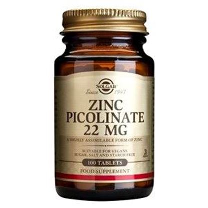 Picture of Solgar Zinc Picolinate 22 mg Tablets