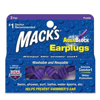 Picture of Mack's AquaBlock Earplugs - 2 Pairs