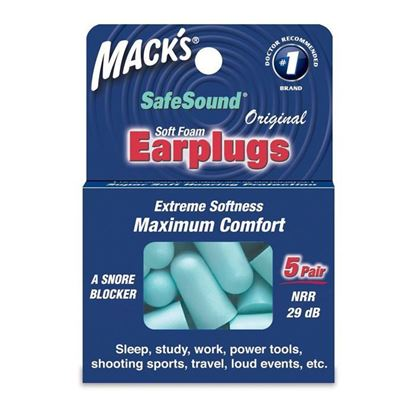 Picture of Mack's Original Soft Foam Earplugs - 5 Pairs