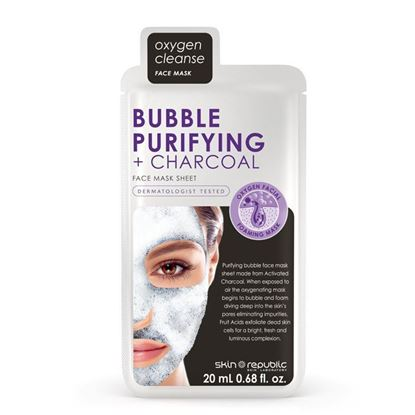 Picture of Skin Republic Bubble + Purifying + Charcoal Face Mask 20ml