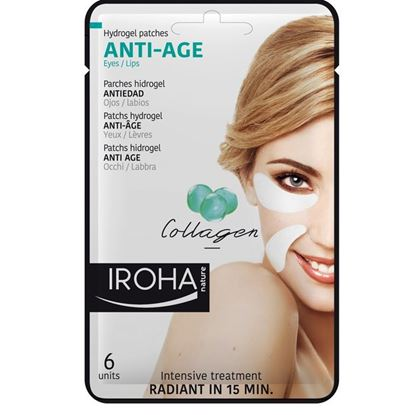Picture of Iroha Nature Anti-Age Hydrogel Eye/Lip Patches - Collagen