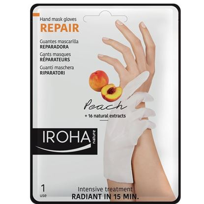Picture of Iroha Nature Repair Hand Mask Gloves - Peach