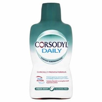 Picture of Corsodyl Daily Mouthwash - Fresh Mint - Alcohol Free - 500ml