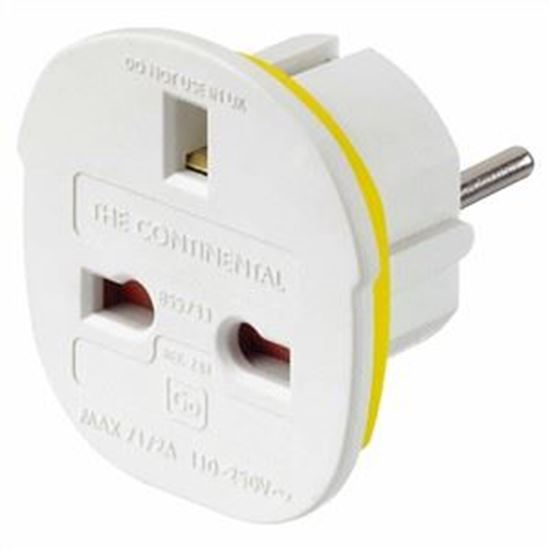 Picture of Go Travel Continental Adaptor (UK - Europe)