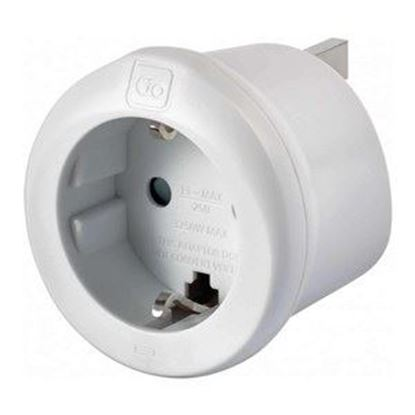 Picture of Go Travel Europe - UK Earthed Adaptor