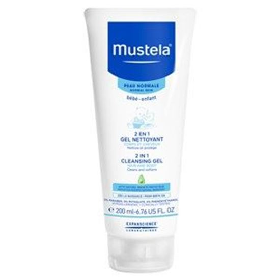 Picture of Mustela Bebe 2 in 1 Hair & Body Cleansing Gel - Normal Skin - 200ml