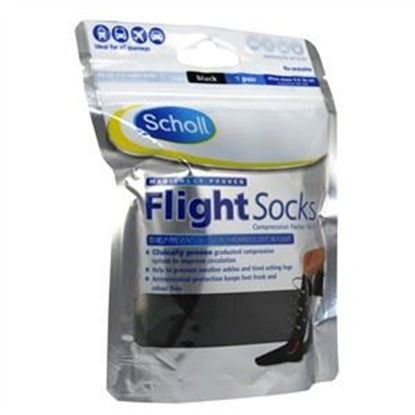 Picture of Scholl Flight Socks Black 3-6