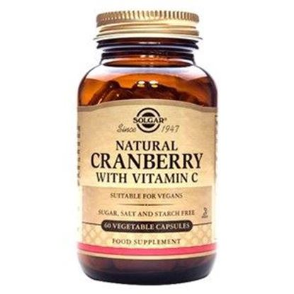 Picture of Solgar Natural Cranberry With Vitamin C Vegetable Capsules