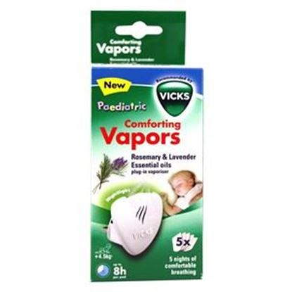 Picture of Vicks Paedriatic Comforting Vapors Rosemary & Lavender Essential Oils Plug-in Vapouriser