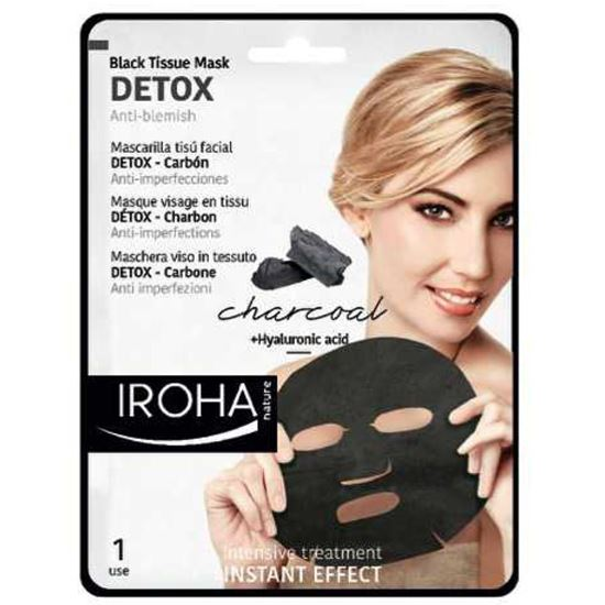 Picture of Iroha Nature Black Tissue Mask - Detox - Charcoal