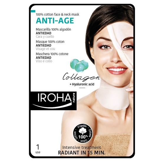 Picture of Iroha Nature Anti-Age Face & Neck Mask - Collagen